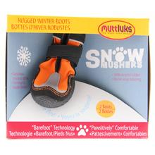 Muttluks Snow Mushers Dog Boots - Orange with Reflective Trim - Set of Two