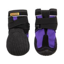 Muttluks Snow Mushers Dog Boots - Purple with Black Trim - Set of Two