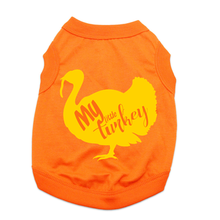 My Little Turkey Dog Shirt - Orange