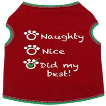 Naughty, Nice, Did My Best Dog Tank - Red