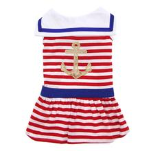 Nautical Stripe Dog Dress by Dogo