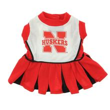 Nebraska Cheerleader Dog Dress - Husker in Red