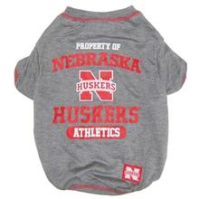Nebraska Cornhuskers Athletics Dog T-Shirt - Gray
