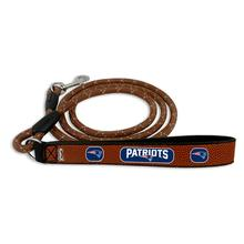 New England Patriots Frozen Rope Leather Dog Leash