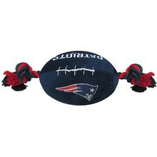 New England Patriots Plush Football Dog Toy