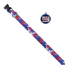 New York Giants Team Camo Dog Collar and Tag by Yellow Dog