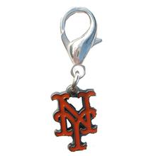 New York Mets Logo Dog Collar Charm