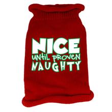 Nice Until Proven Naughty Dog Sweater - Red