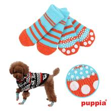 Nitty-Gritty Dog Socks by Puppia - Aqua