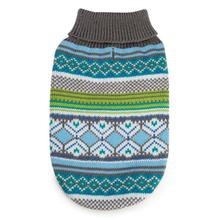 Northern Lights Dog Sweater - Blue