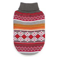 Northern Lights Dog Sweater - Raspberry