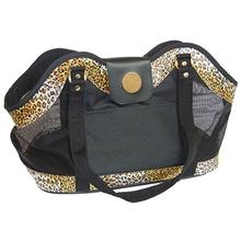 NY Dog Leopard Print Open Pet Tote