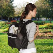 On-The-Go Rolling Backpack Pet Carrier - Black
