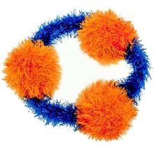 OoMaLoo Handmade Pull Ring Dog Toy - Orange with Blue Ring
