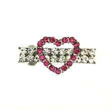 Open Heart Barrette by FouFou Dog - Pink
