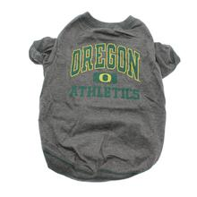 Oregon Ducks Athletics Dog T-Shirt - Gray
