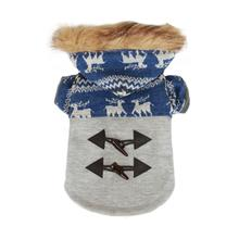 Ox Horn Button Dog Coat - Blue