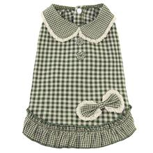 Dobaz Gingham Dog Dress - Green