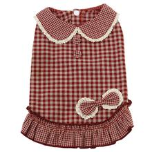 Dobaz Gingham Dog Dress - Red