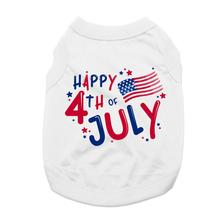 Happy 4th of July Dog Shirt - White