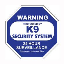 K9 Security System Car Window Decal