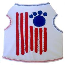 Paw Flag Dog Tank - White