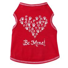 Paw Heart Be Mine Dog Tank - Red