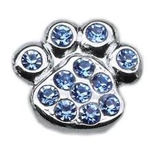 Paw Slider Dog Collar Charm - Blue