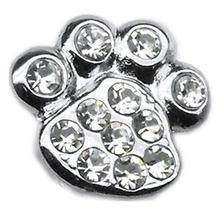 Paw Slider Dog Collar Charm - Clear