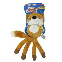Pawdoodles Squeakies Dog Toy - Fox