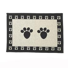 Paws Dog Tapestry Placemat - Natural and Black