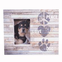 """Peace, Love, Dog"" Wood Pallet Box Frames by Dog Speak"