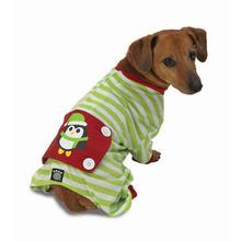 Penguin Dog Pajamas - Green/White