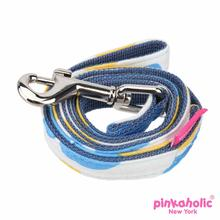Peonies Dog Leash by Pinkaholic - Blue