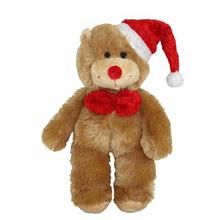 PetLou Christmas Bear Dog Toy with Bow Tie