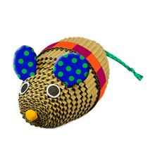 Petstages Wrestle and Scratch Corrugate Cat Toy - Mouse