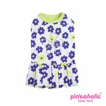 Petunias Dog Dress by Pinkaholic - Lime
