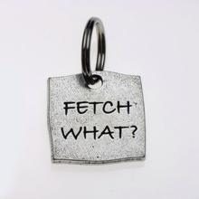 Pewter Dog Collar Charm or Cat Collar Charm: Fetch What?