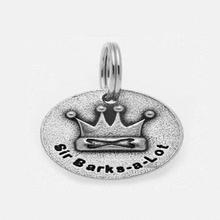 Pewter Dog Collar Charm: Sir Barks A Lot