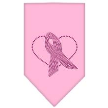 Pink Ribbon Rhinestone Dog Bandana - Light Pink