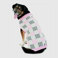 Piper's Plaid Dog Sweater - Pink