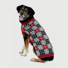 Piper's Plaid Dog Sweater - Red