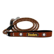 Pittsburgh Steelers Frozen Rope Leather Dog Leash