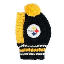 Pittsburgh Steelers Knit Dog Hat