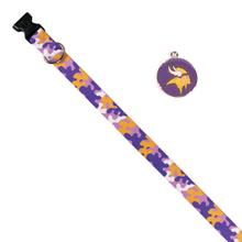 Minnesota Vikings Team Camo Dog Collar and Tag by Yellow Dog