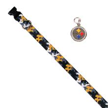 Pittsburgh Steelers Team Camo Dog Collar and Tag by Yellow Dog