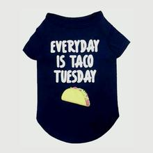 Taco Tuesday Dog Shirt - Heather Blue
