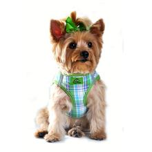 Plaid American River Choke Free Dog Harness by Doggie Design - Green and Turquoise