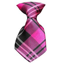 Plaid Dog Neck Tie - Pink