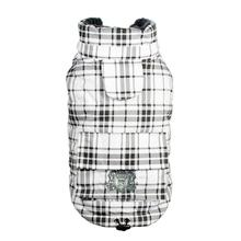 Plaid Sherling Puffer Dog Vest by Hip Doggie - White